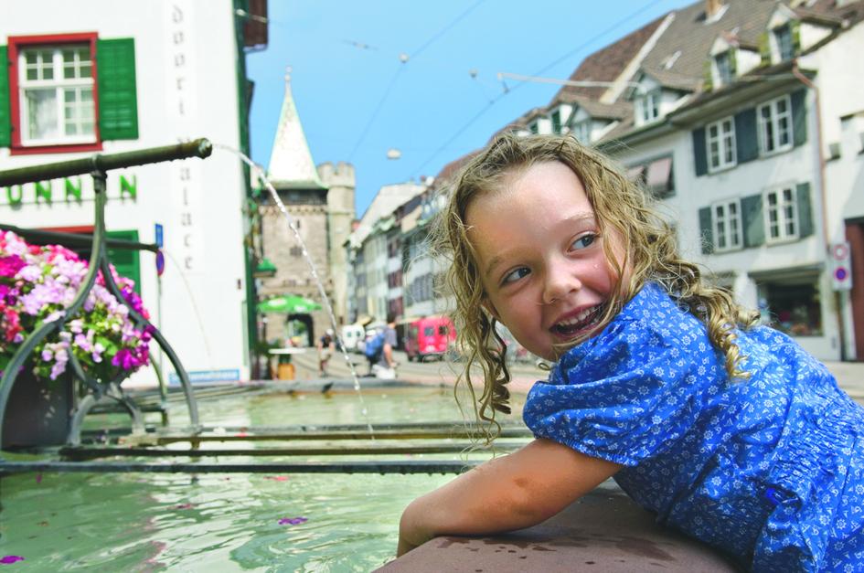 Brunnen Mädchen Spalentor